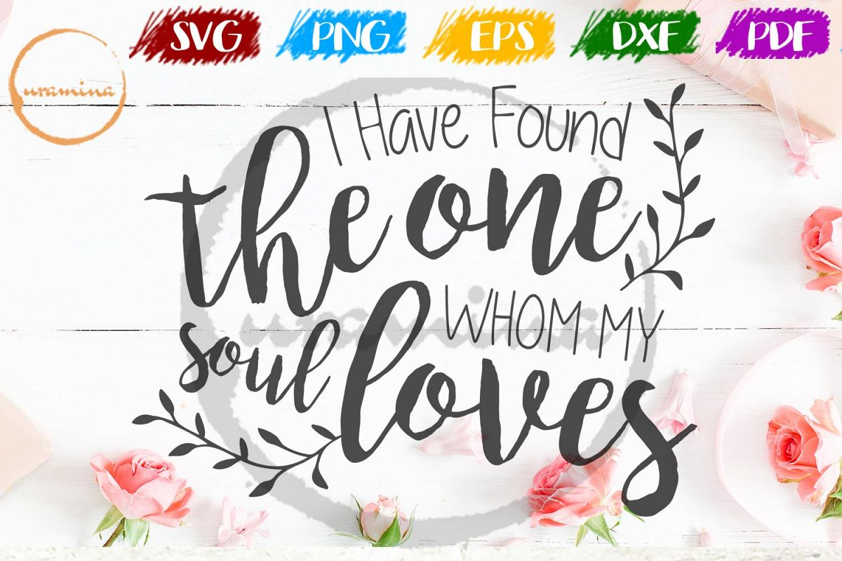 I Have Found The One Valentine SVG PDF PNG example image 1