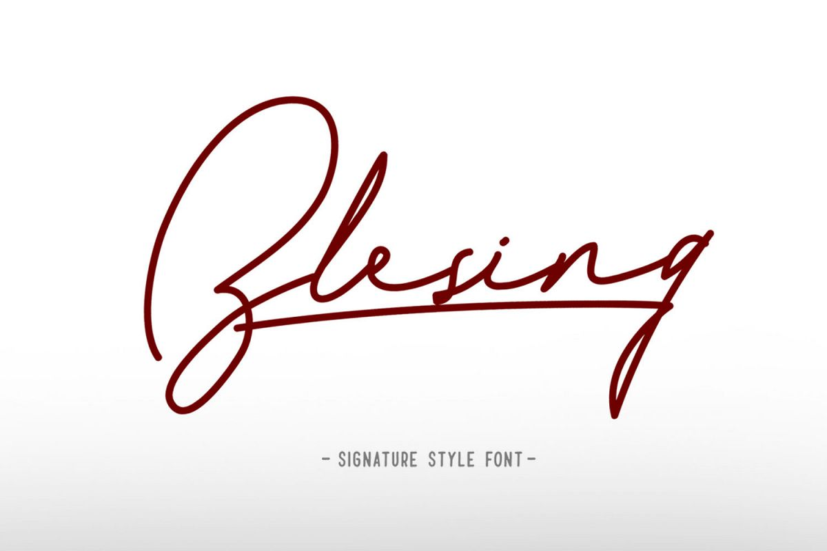 Blesing signature style example image 1