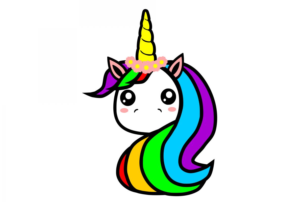 Cute Unicorn SVG example image 1