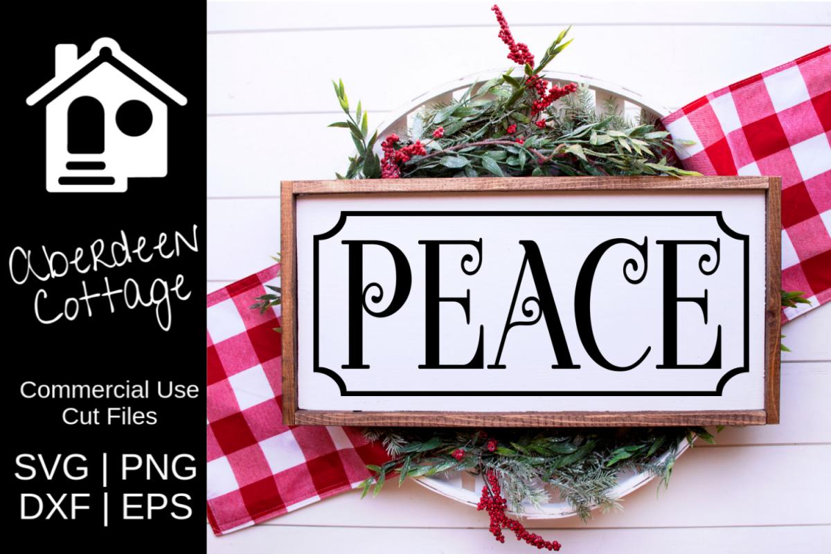 Peace Christmas Sign.Peace Christmas Sign Svg