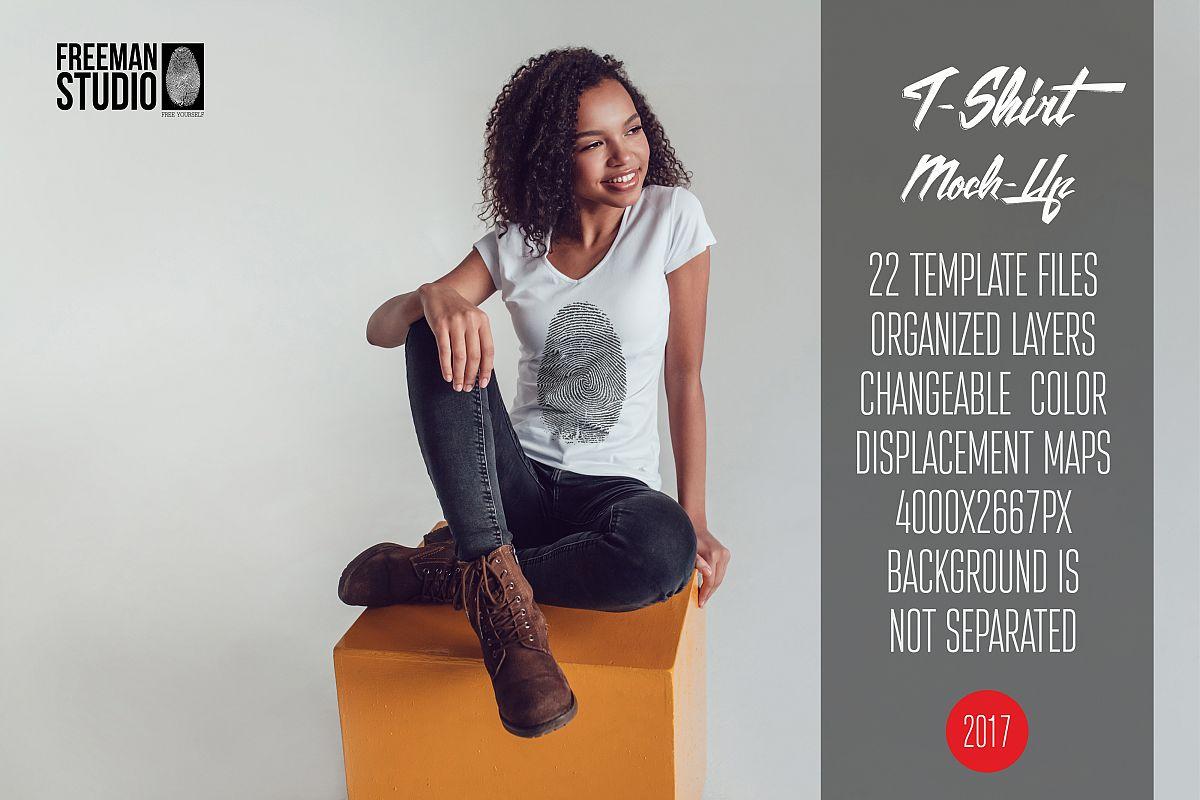 T-Shirt Mock-Up Vol.20 2017 example image 1