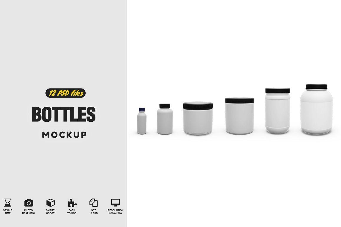 Bottles Mockup example image 1
