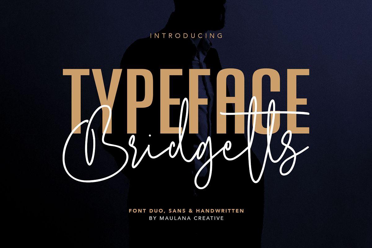 Bridgetts Typeface Free Sans Serif example image 1