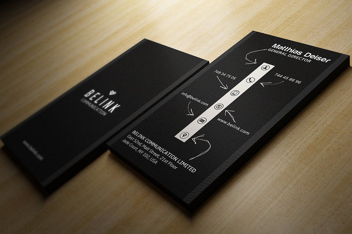Creative Black Business Card example image 1