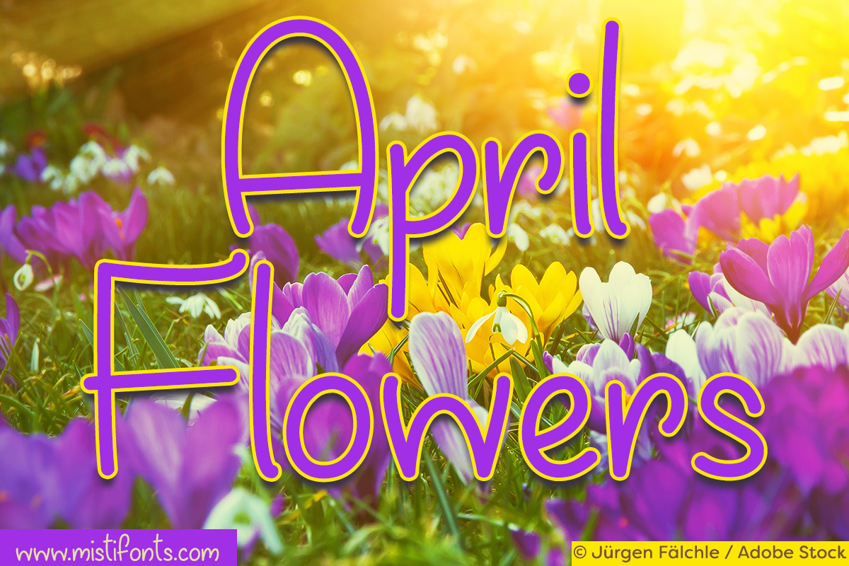 April Flowers example image 1
