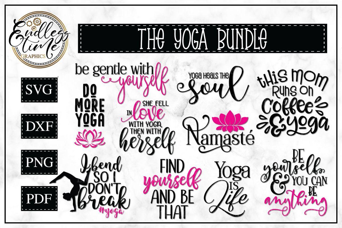Yoga SVG Bundle example image 1