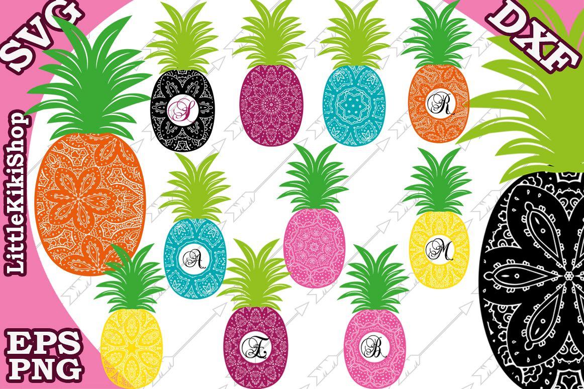 Pineapple Mandala Svg, Mandala Monogram Svg ,Svg Pineapple example image 1