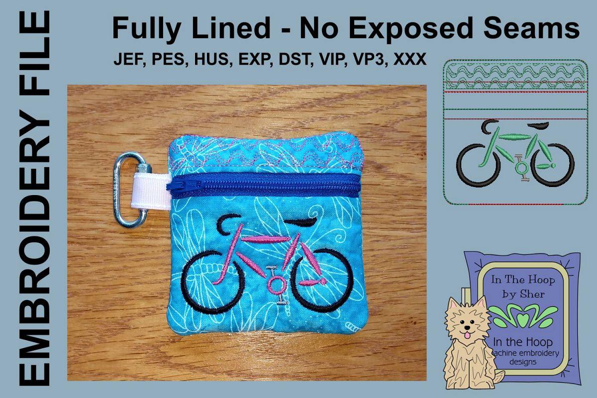 Road Bike Mini Zipper Bag / Fully Lined, 4X4 HOO example image 1