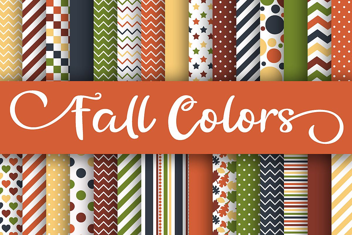 Fall Colors Digital Papers example image 1