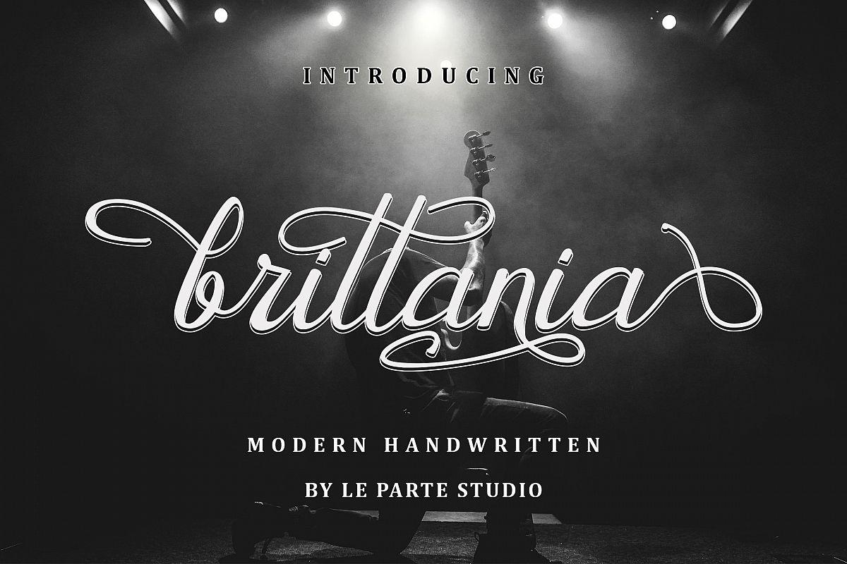 Brittania Modern Handwritten example image 1