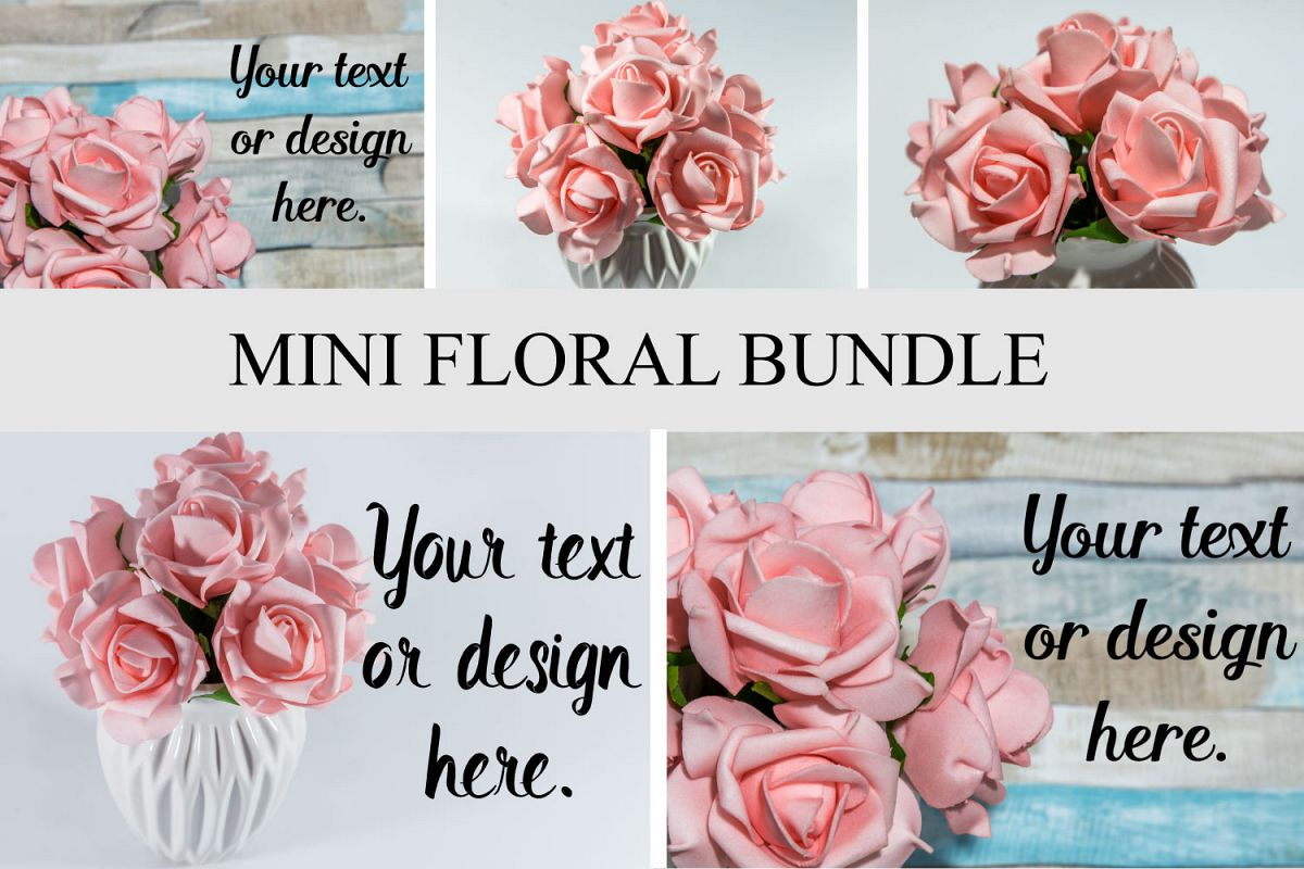 Mini Floral Bundle Mockup Styled Stock Photography Stock pho example image 1
