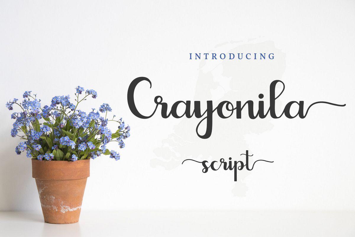 Crayonila Script example image 1