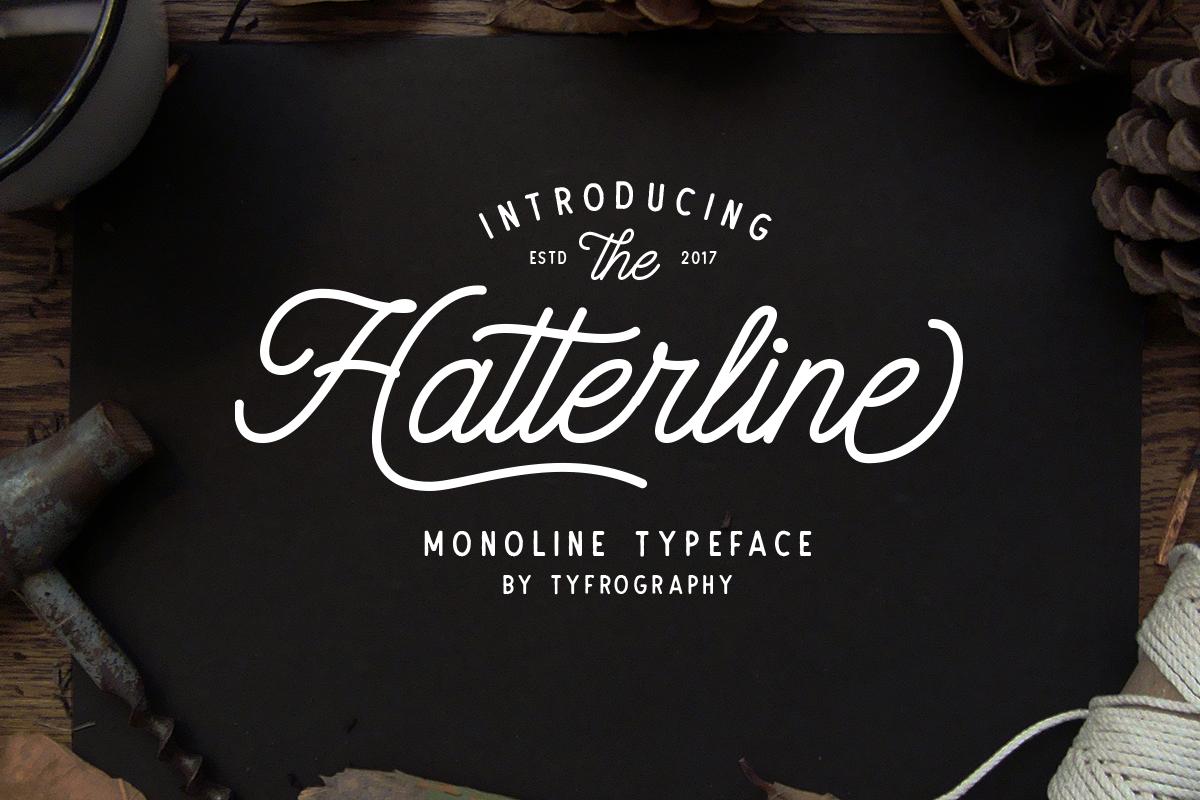 Hatterline Font + Sans example image 1