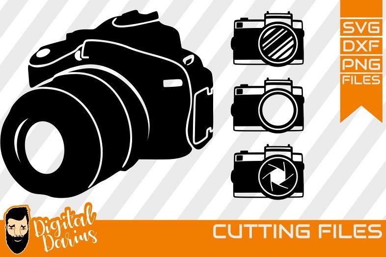 4x Camera svg, Photographer svg, photocamera svg, silhouette example image 1