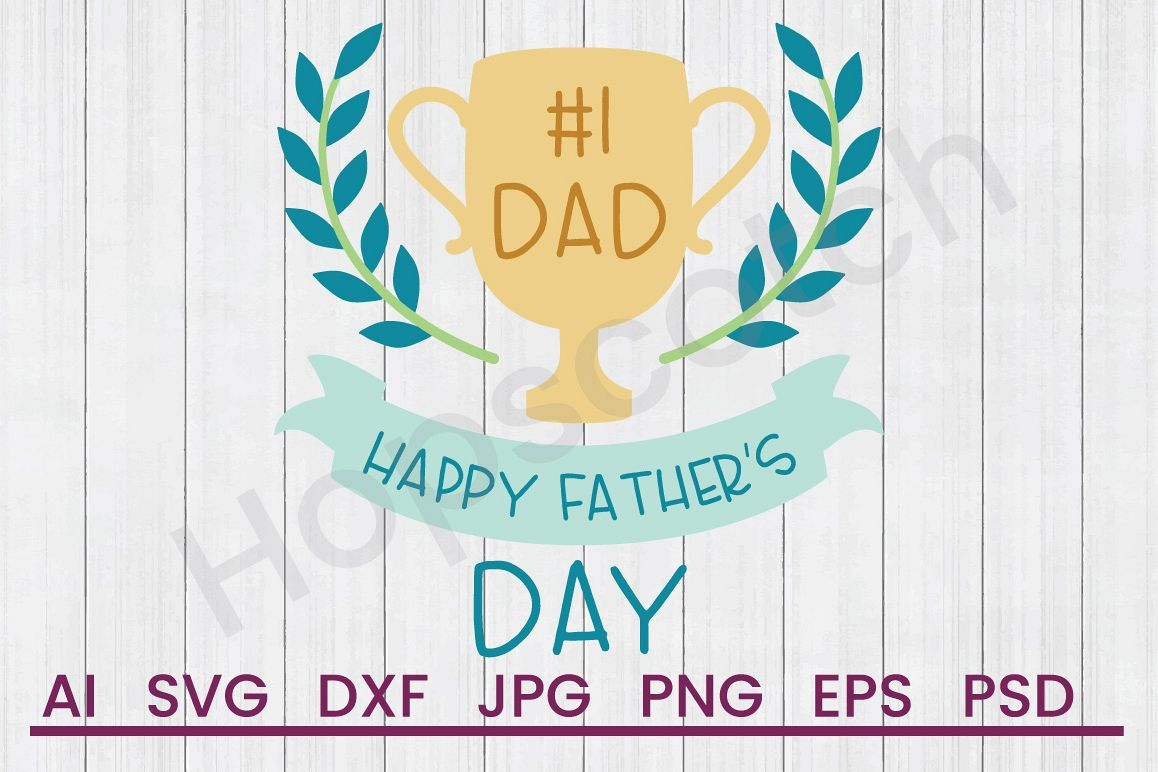 Trophy SVG, Father's Day SVG, DXF File, Cuttatable File example image 1