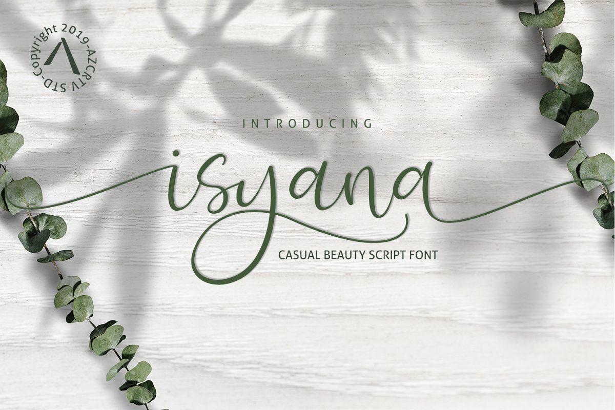 Isyana Script example image 1