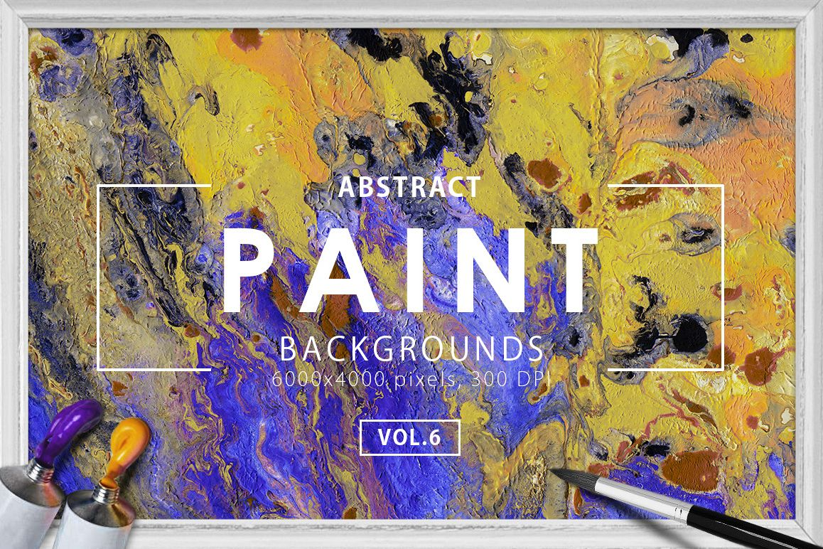 Abstract Paint Backgrounds Vol.6 example image 1