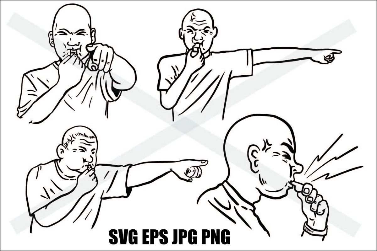 Whistle - SVG EPS JPG PNG example image 1