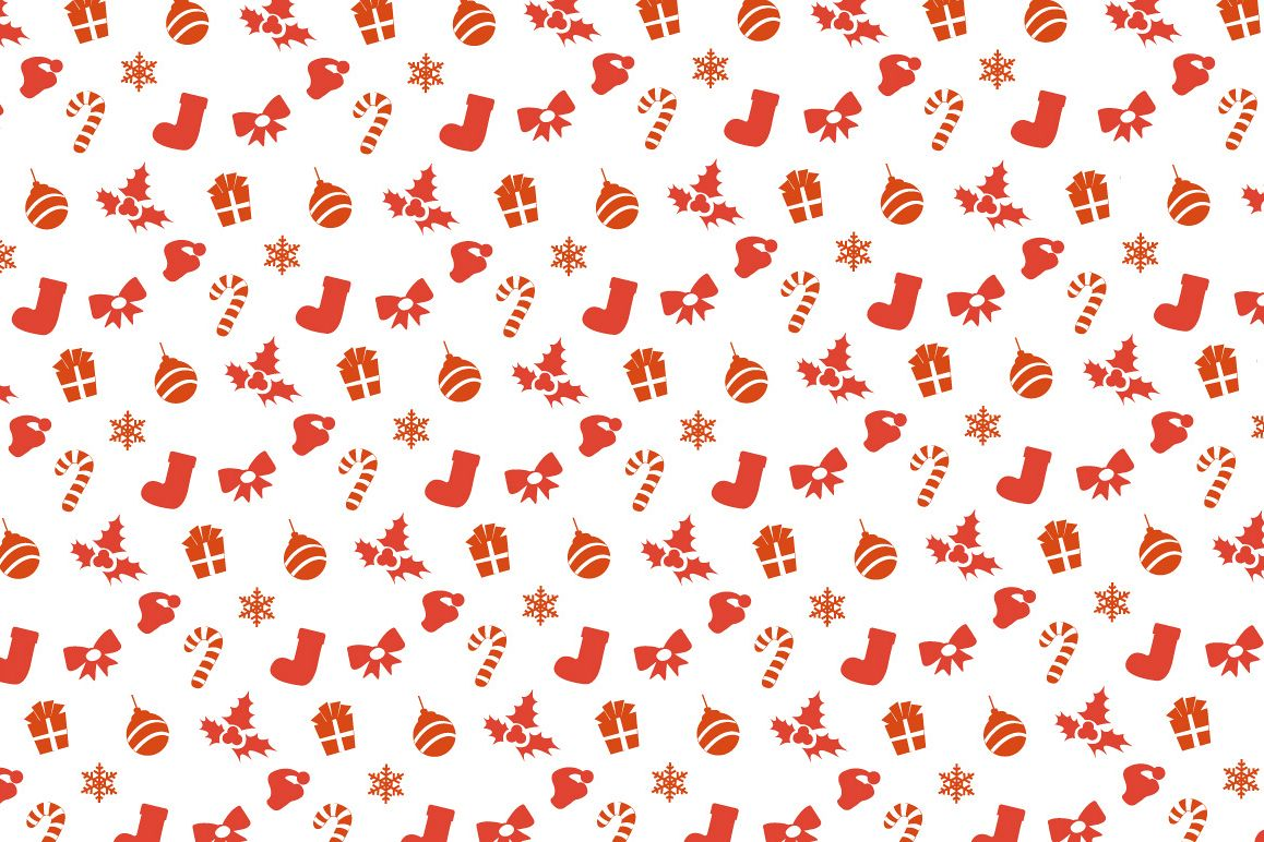 Merry Christmas & New Year elements pattern example image 1