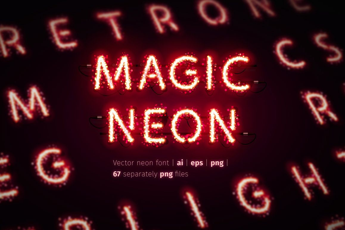 Glowing Magic Neon Type example image 1
