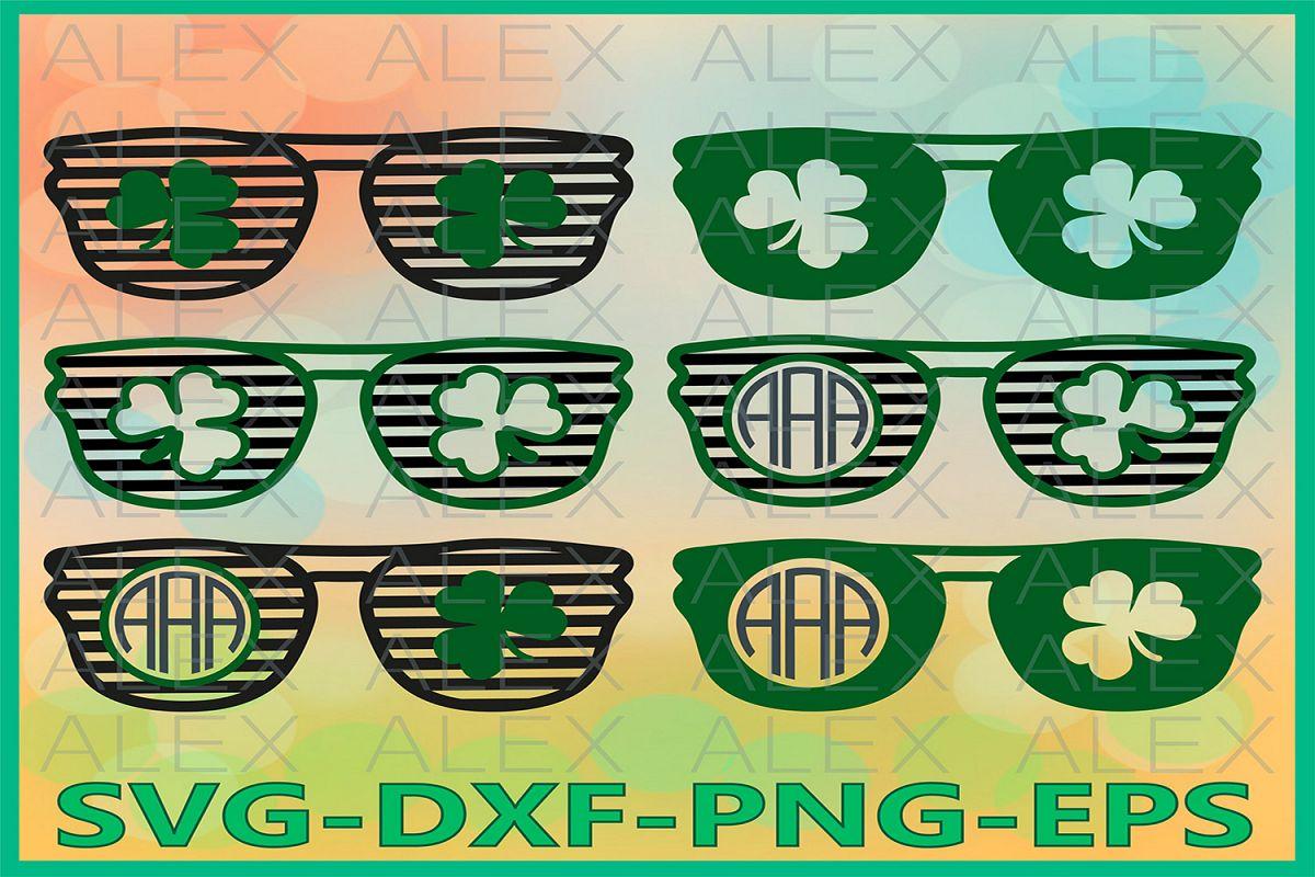 Clover Glasses SVG, St Patrick's Day SVG, Clover Svg example image 1