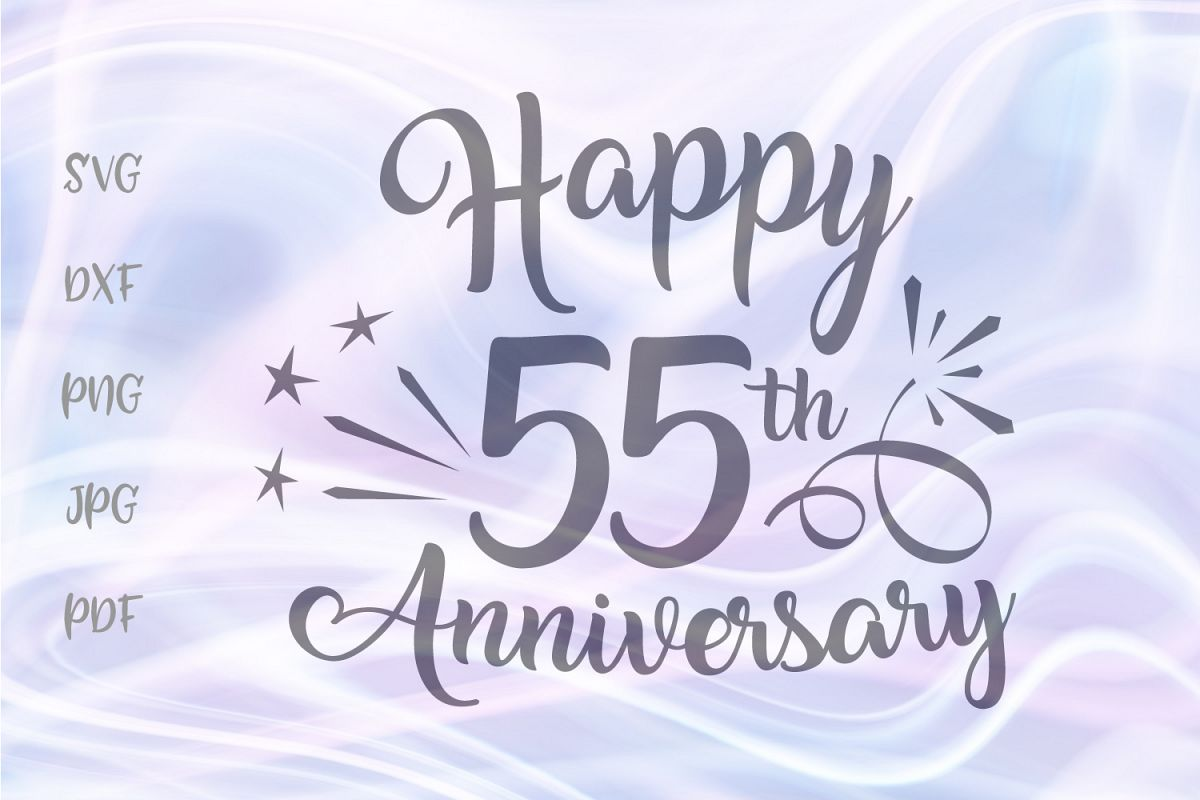 Happy 55th Anniversary Fifty Five Year Emerald Wedding Sign example image 1