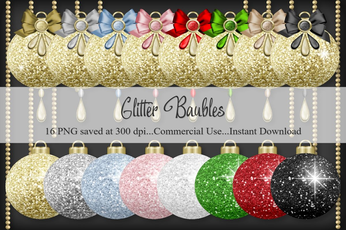 Glitter Baubles example image 1