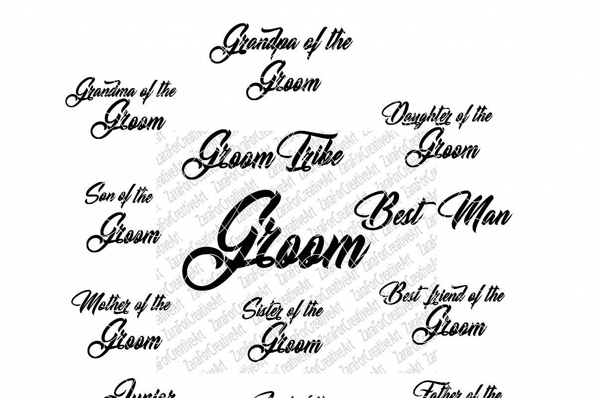 Groom Bridal Bundle SVG Bundle Wedding SVG Instant Download SVG Groom tribe  Best Man Svg Cut Files Cricut Files Silhouette family love