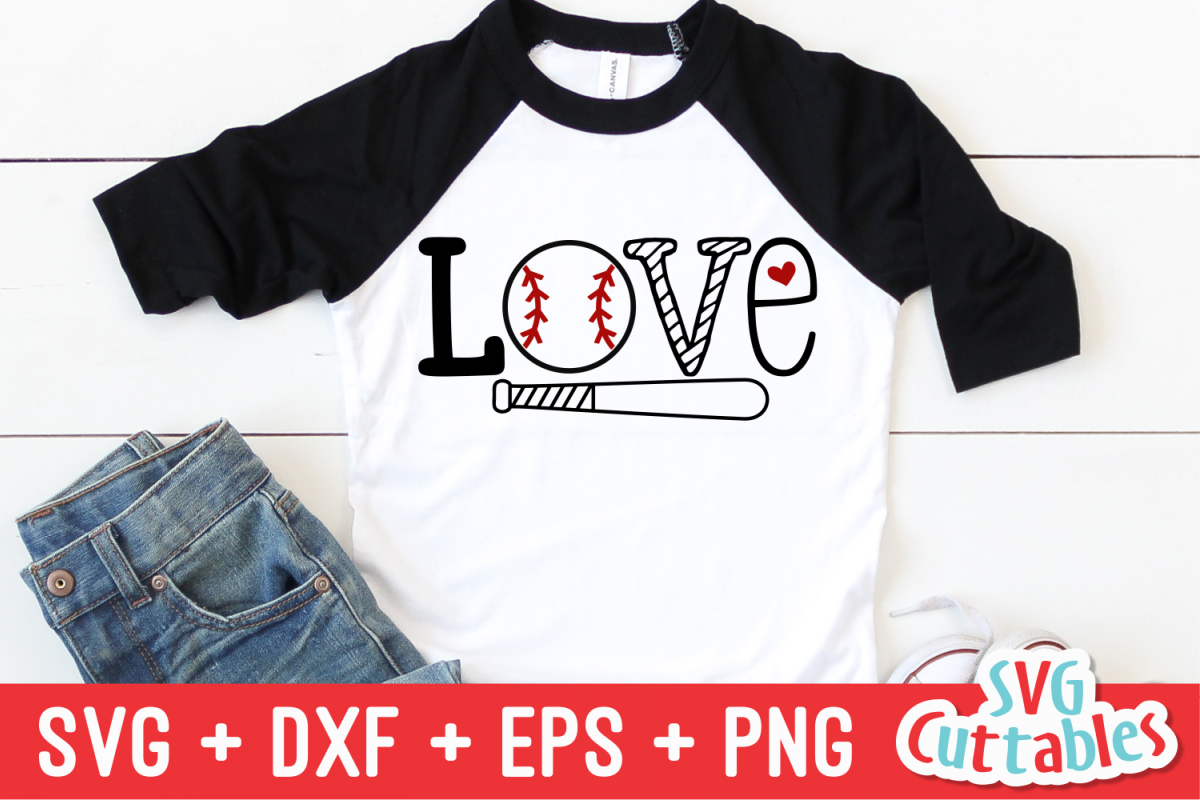 Love Baseball | SVG Cut File example image 1