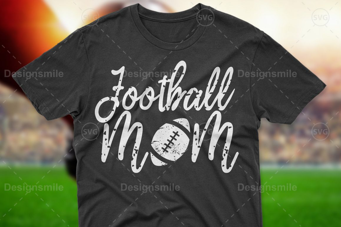 Football Mom SVG DXF PNG EPS Cutting Files example image 1