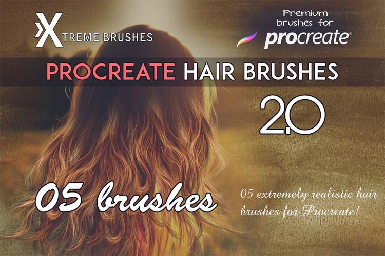 Procreate Hair Brushes 2.0 example image 1