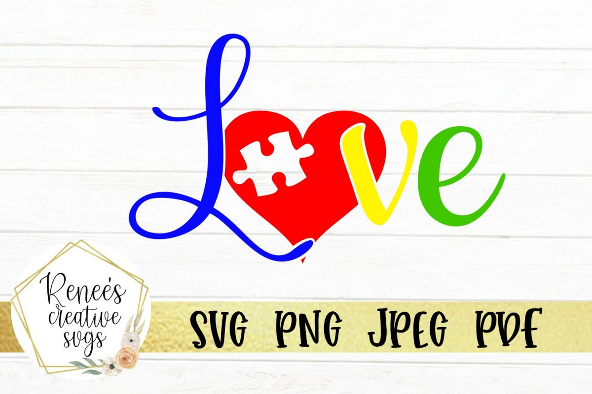 Autism Love   Autism   SVG Cutting File example image 1
