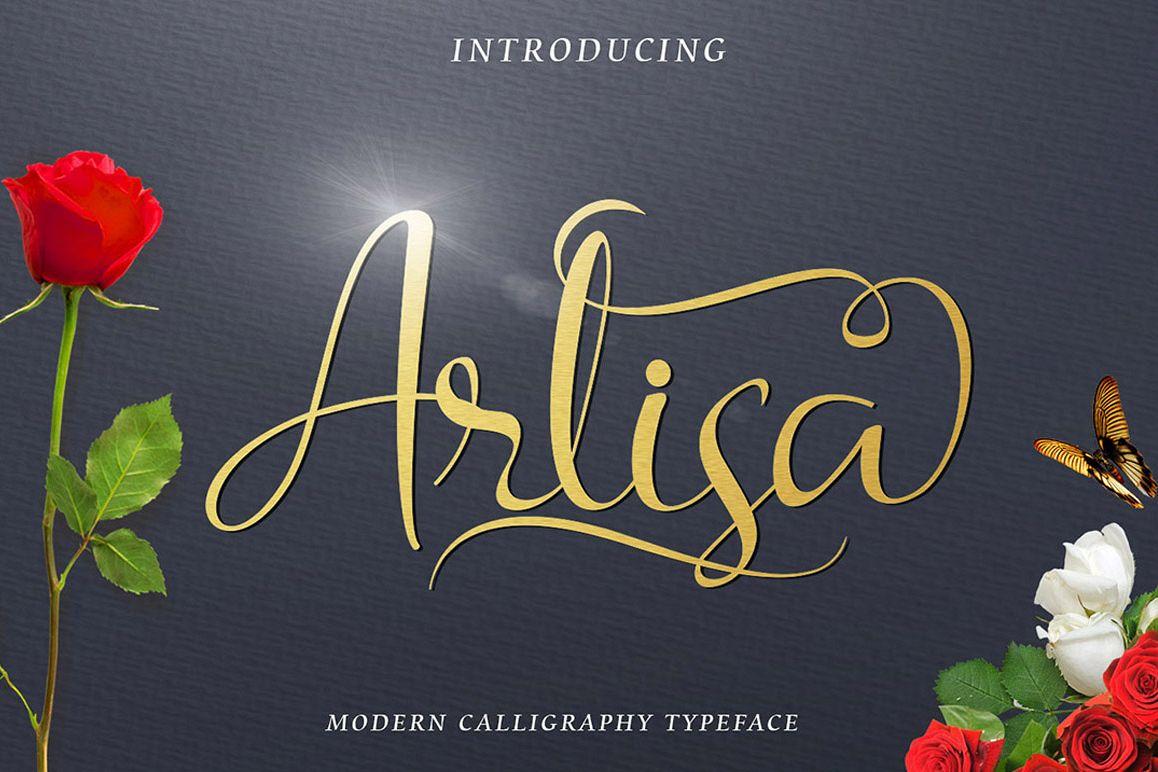 Arlisa Script + Bonus example image 1