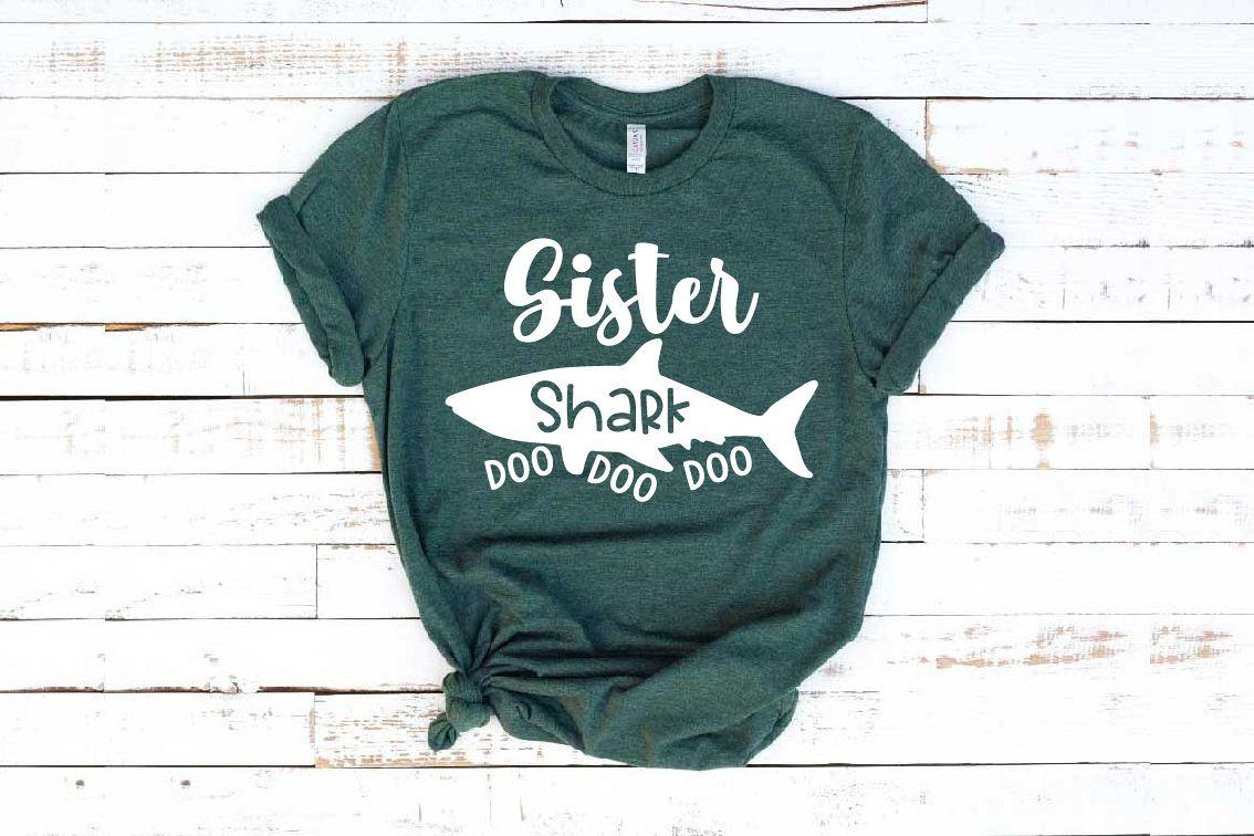 Sister Shark SVG Doo Doo Doo Family Birthday Sea World 1304s example image 1