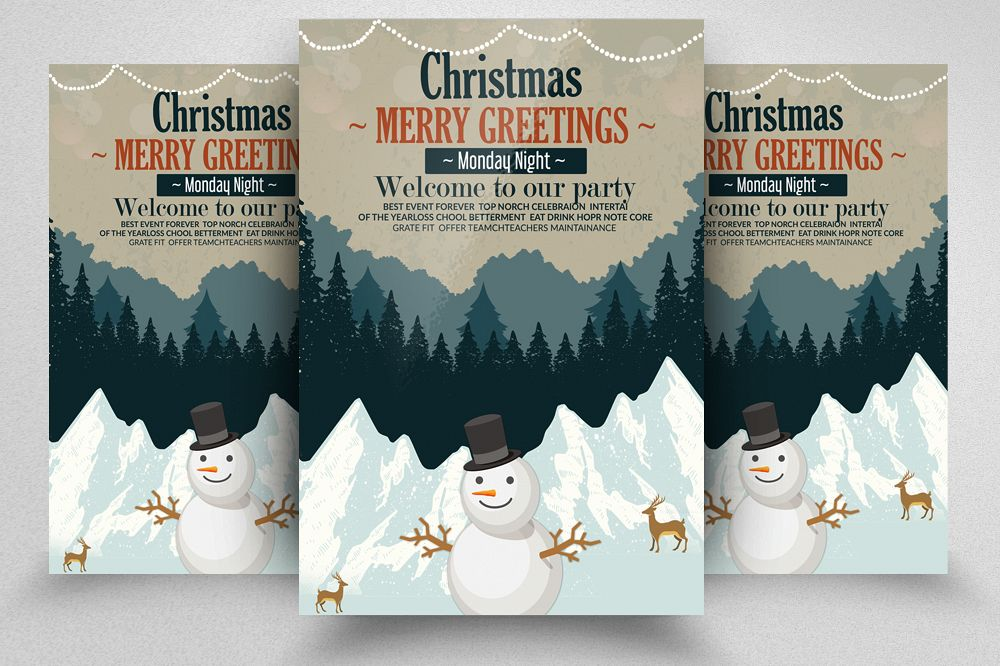 Merry Christmas Party Flyer example image 1
