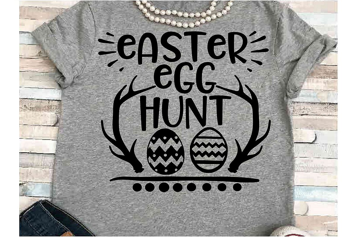 Happy Easter SVG DXF JPEG Silhouette Cameo Cricut Egg hunt example image 1