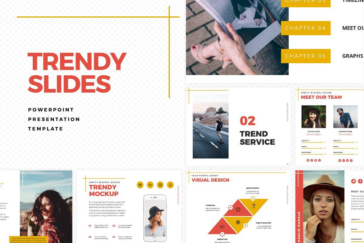 trendy slides powerpoint template