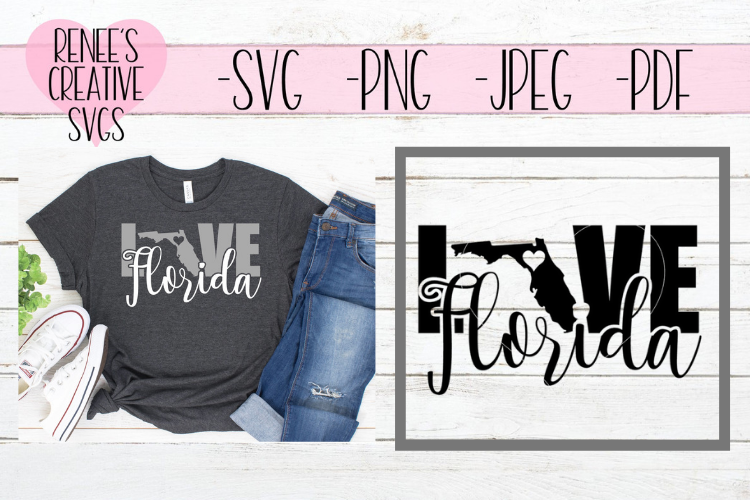 Florida Love | State SVG | SVG Cutting File example image 1