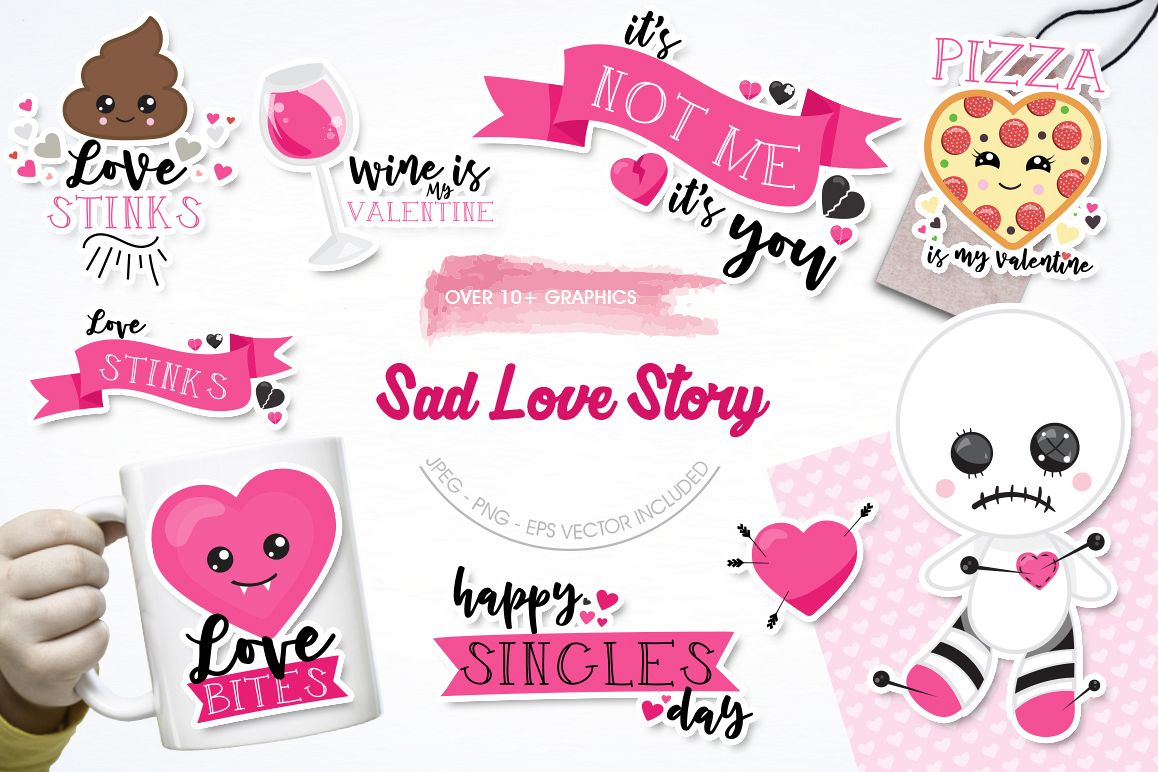 Anti-Valentine graphic and illustrations example image 1
