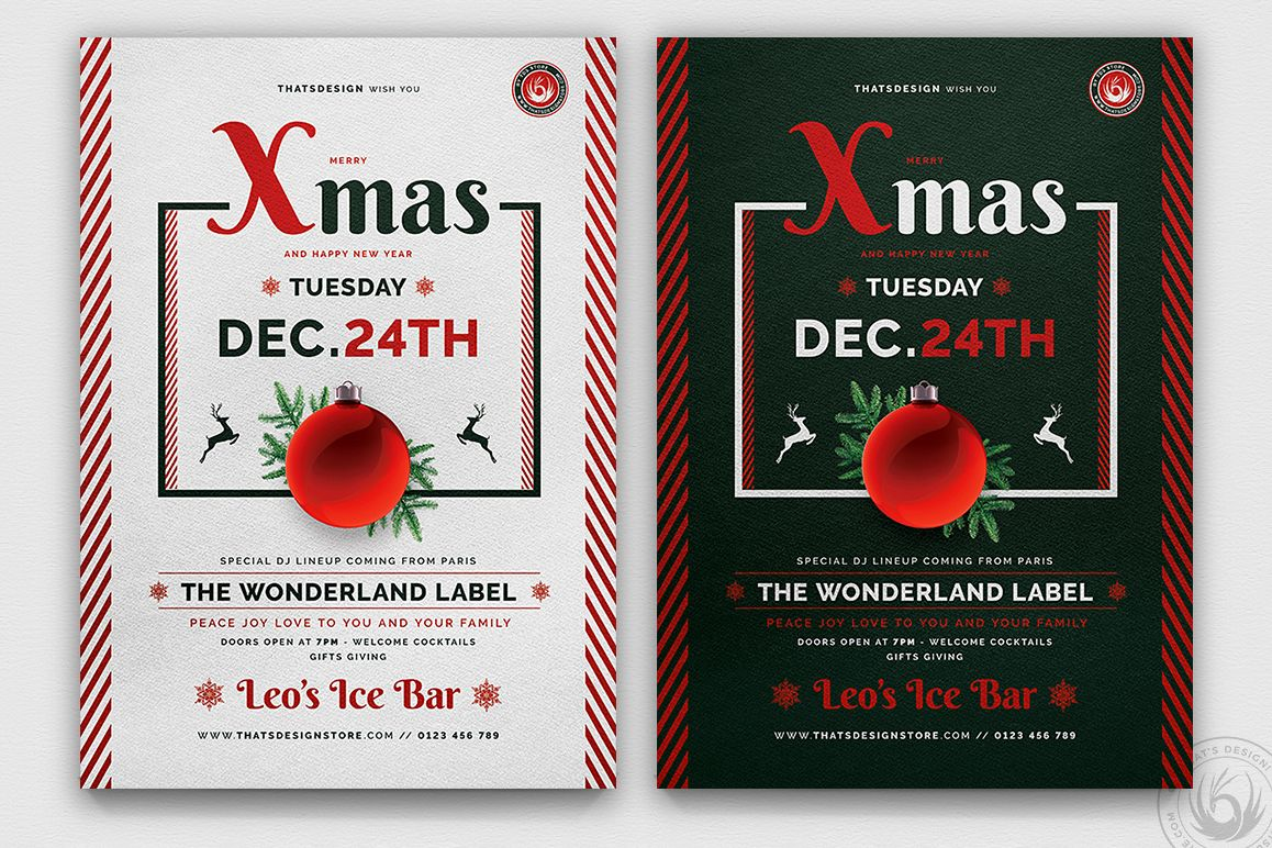 Christmas Eve Flyer Template V12 example image 1