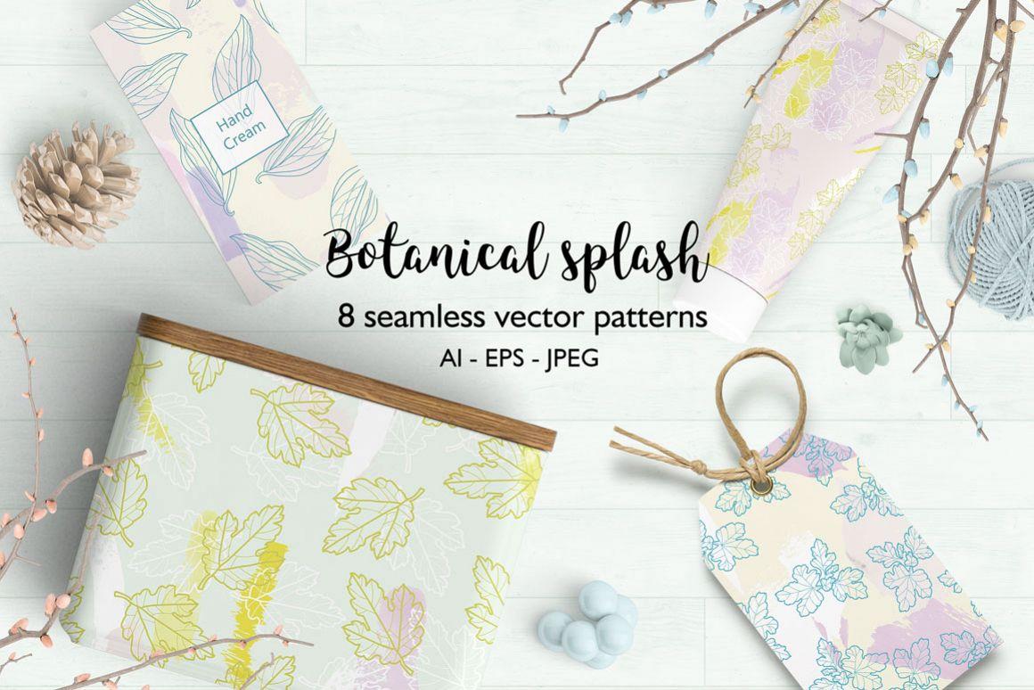 Botanical splash patterns example image 1