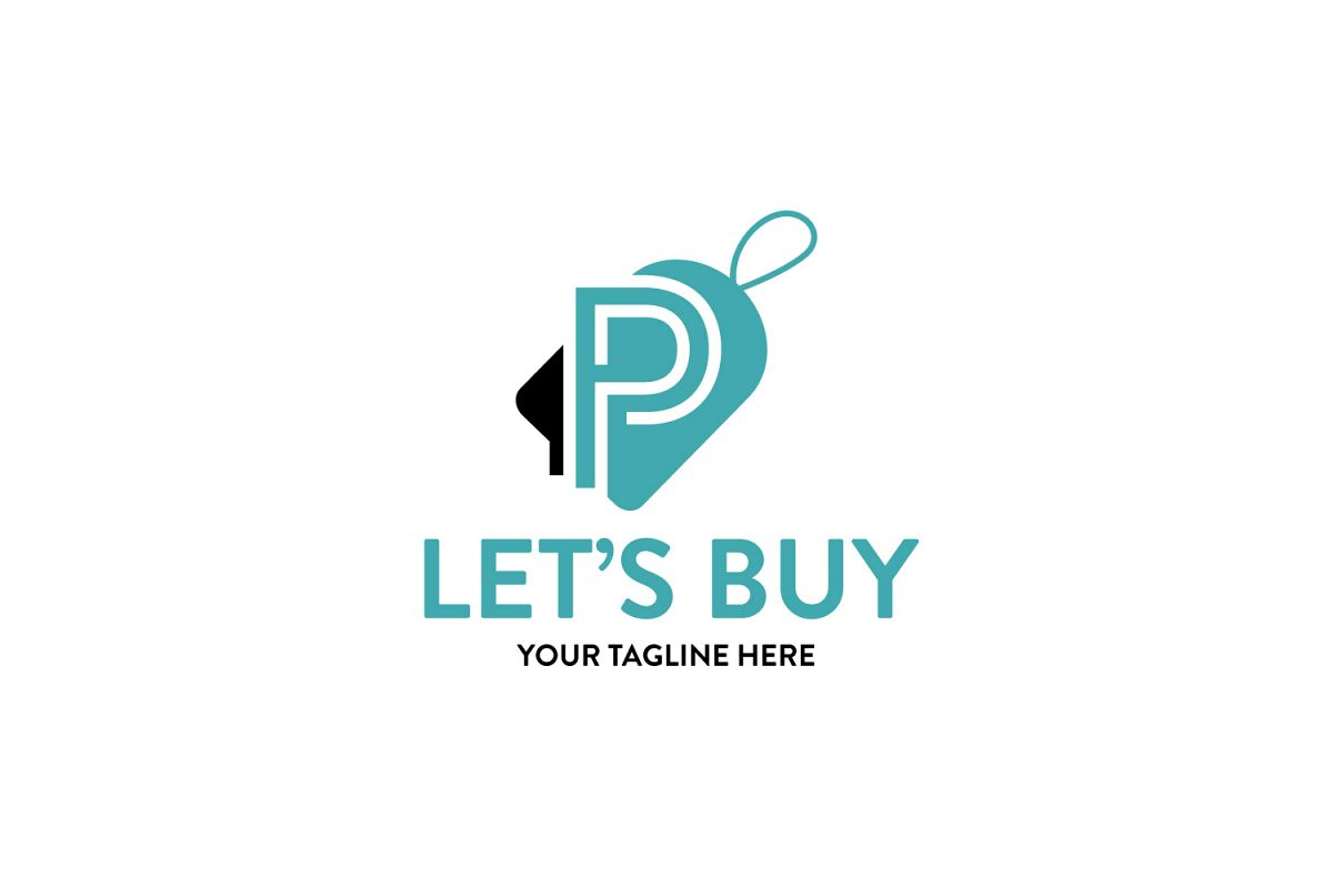 P letter sale/discount tag logo example image 1