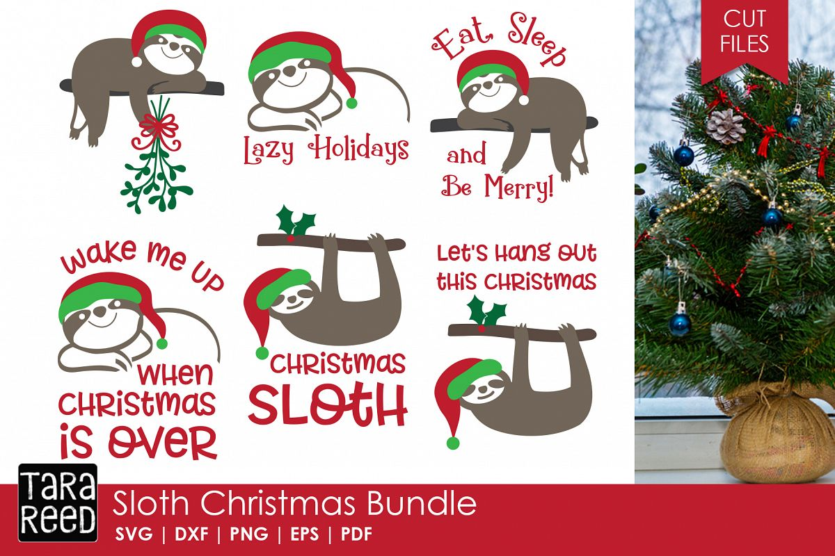 Christmas Sloth.Sloth Christmas Christmas Svg Files For Crafters