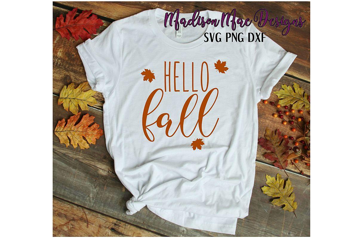 Hello Fall SVG Digital Cut File example image 1