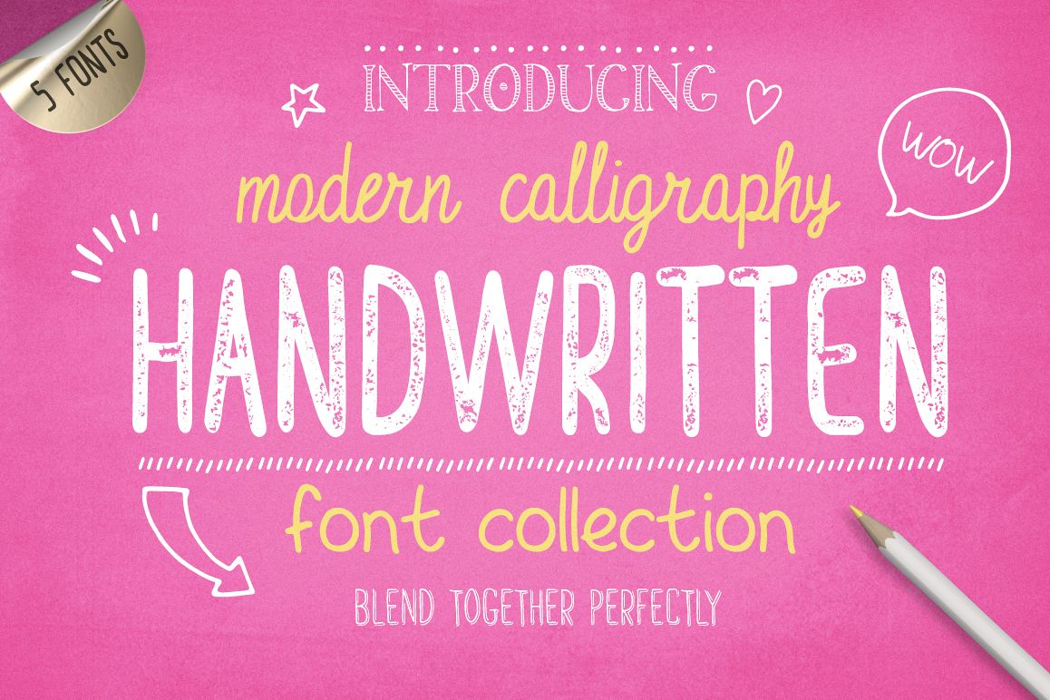 Handwritten Font Collection example image 1