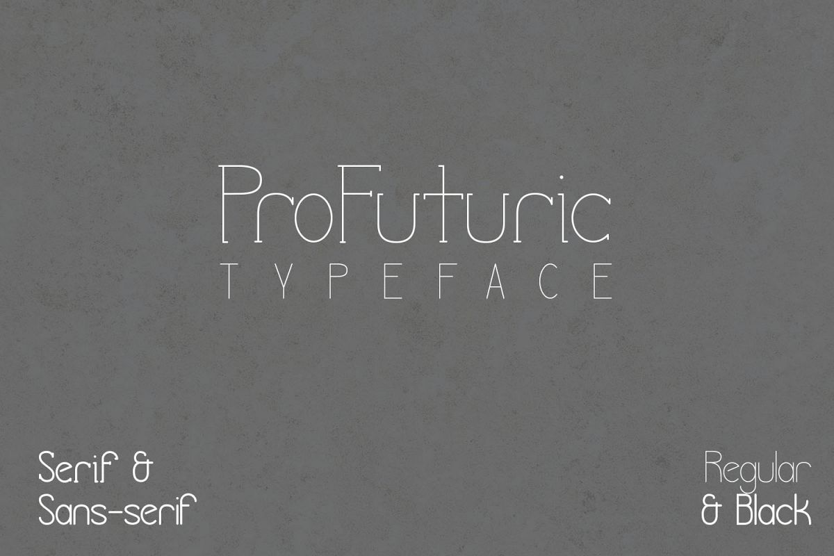 ProFuturic Typeface example image 1