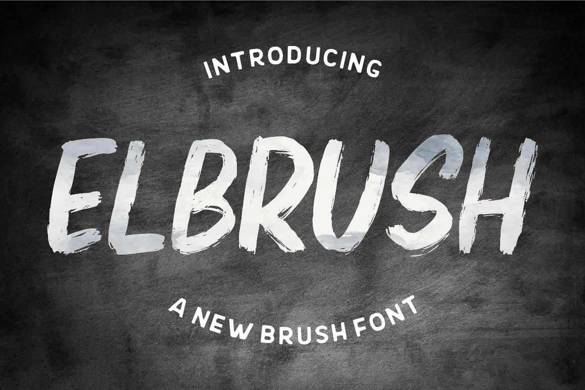 Elbrush - New Brush Font example image 1