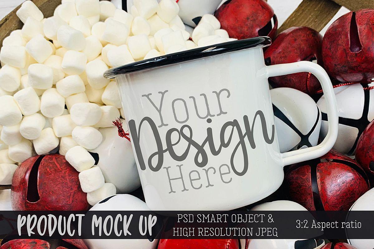 Sweet holiday mug Craft mock up   PSD & JPEG example image 1