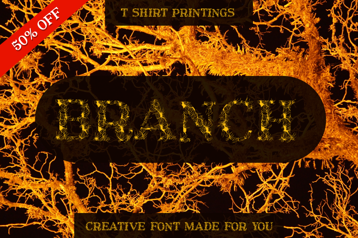 Branches Font example image 1