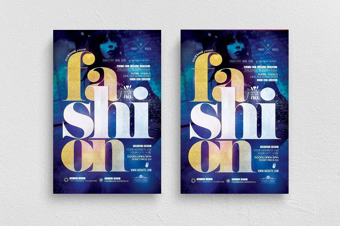 Fashion Live Show Flyer Template example image 1